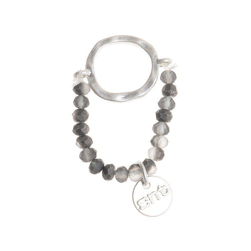 Anillo anilla metal gris