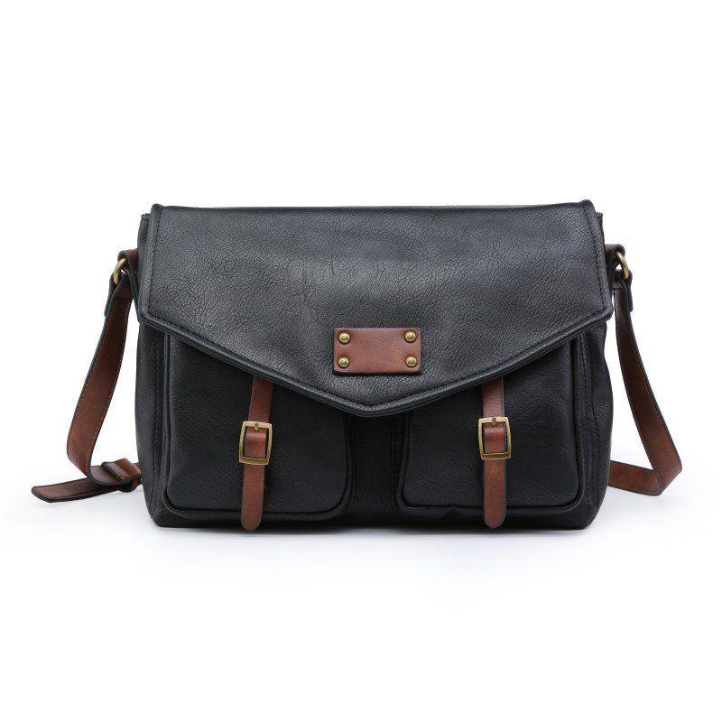 Bolso bandolera maletín negro