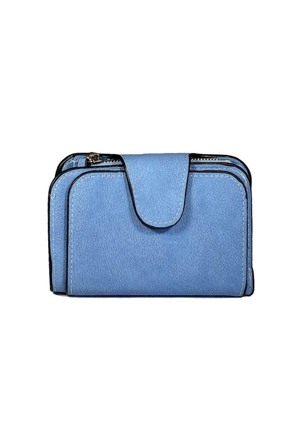 Cartera monedero azul