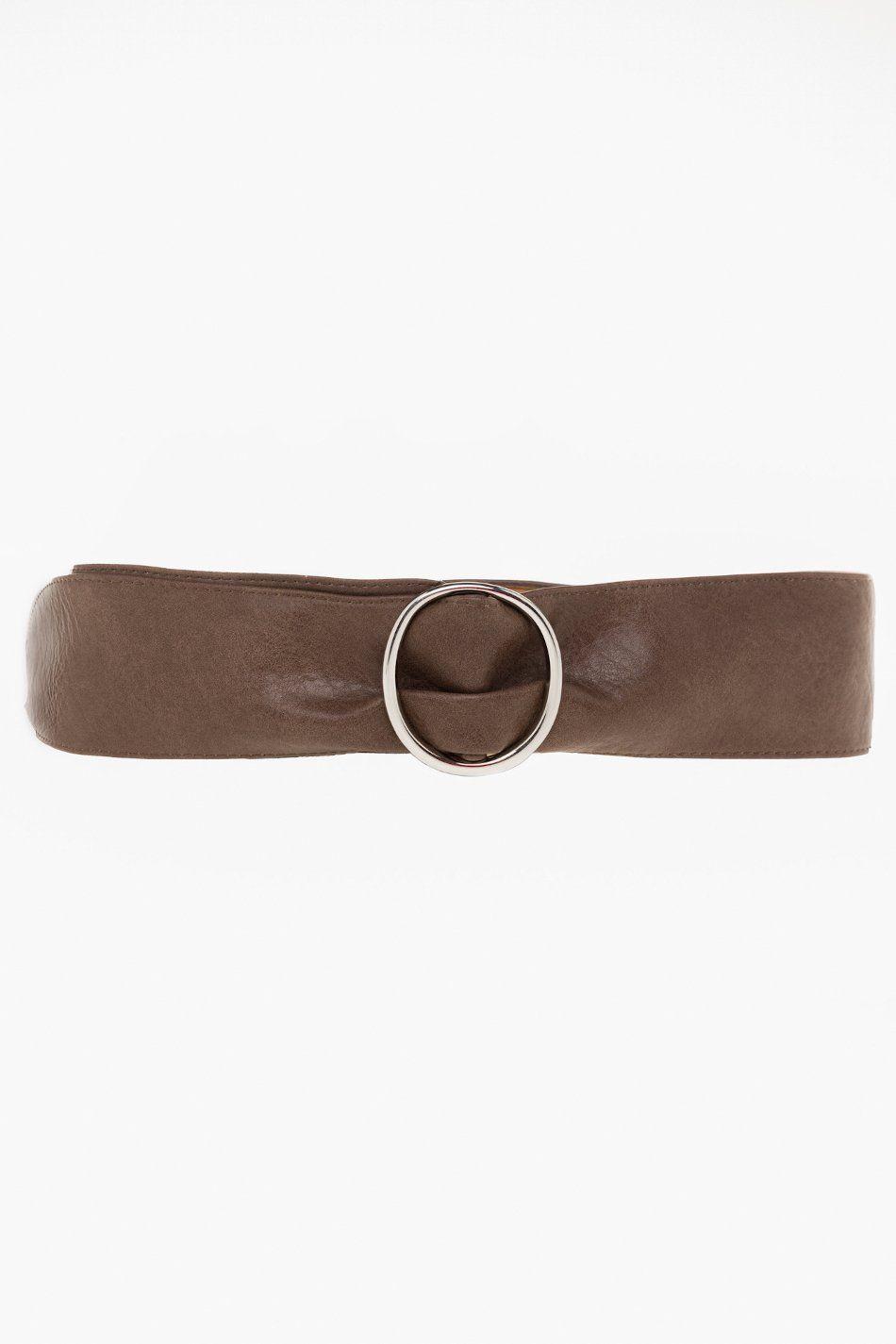 Cinturón ancho polipiel