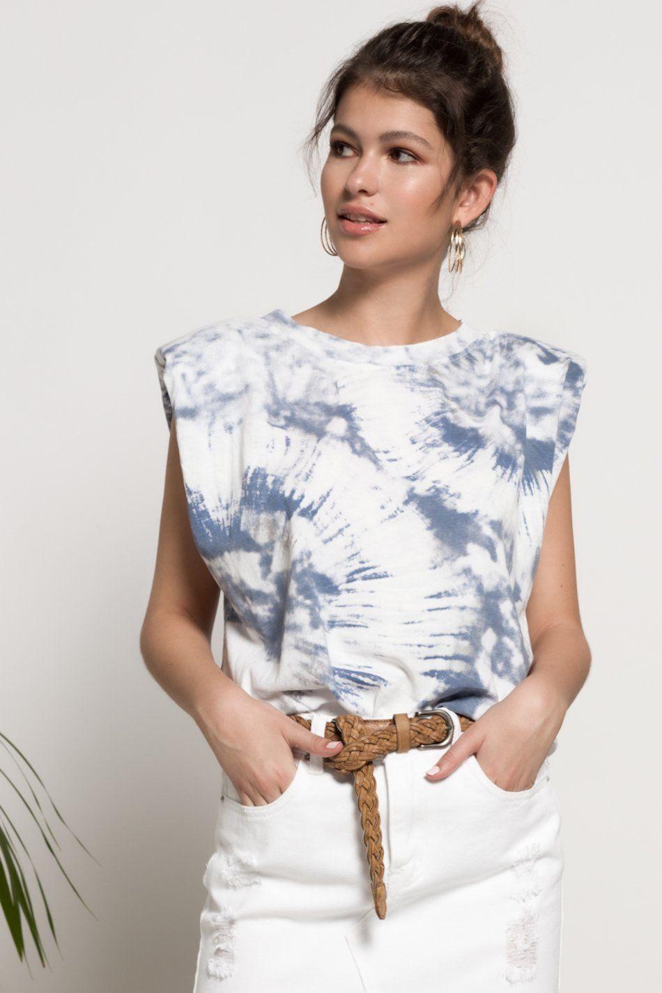 Camiseta hombreras tie dye