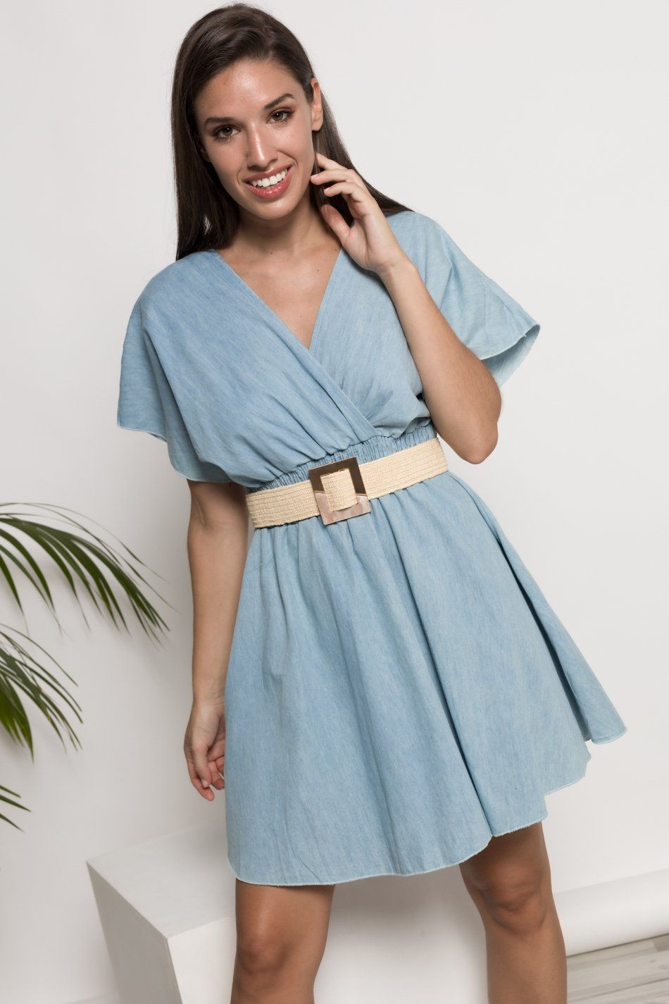 Vestido corto denim