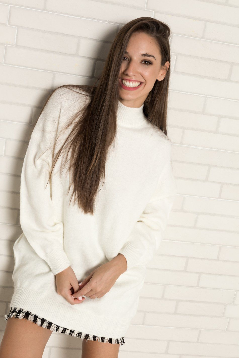 Jersey oversize perkins blanco
