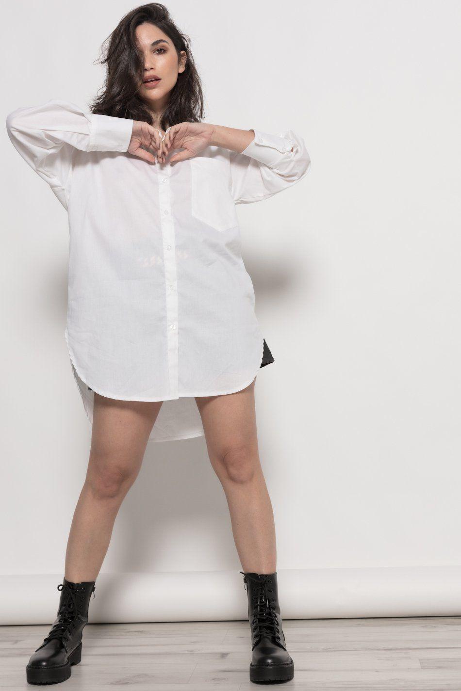 Camisa bolsillo blanco