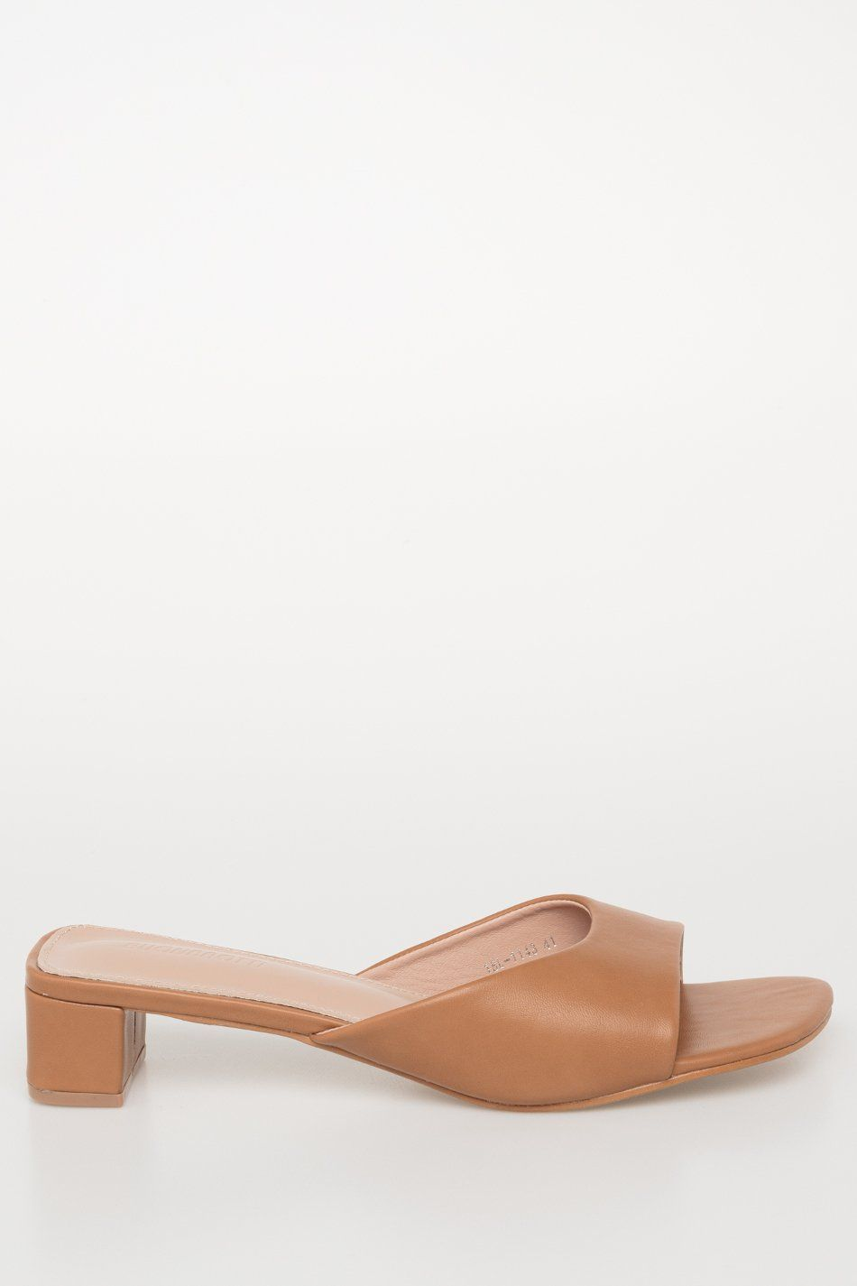 Sandalia abierta tacón ancho camel